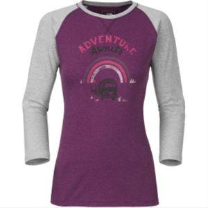 Adventure awaits graphic baseball t shirt